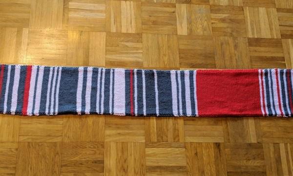 Шерстяной шарф посвященной непунктуальности немецкой железной дороги был продан за 11.000$