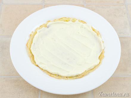 Блинчики со сливочным сыром и ягодным соусом — 7 шаг