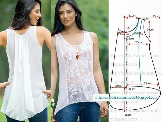 Простые выкройки летних блузок №2