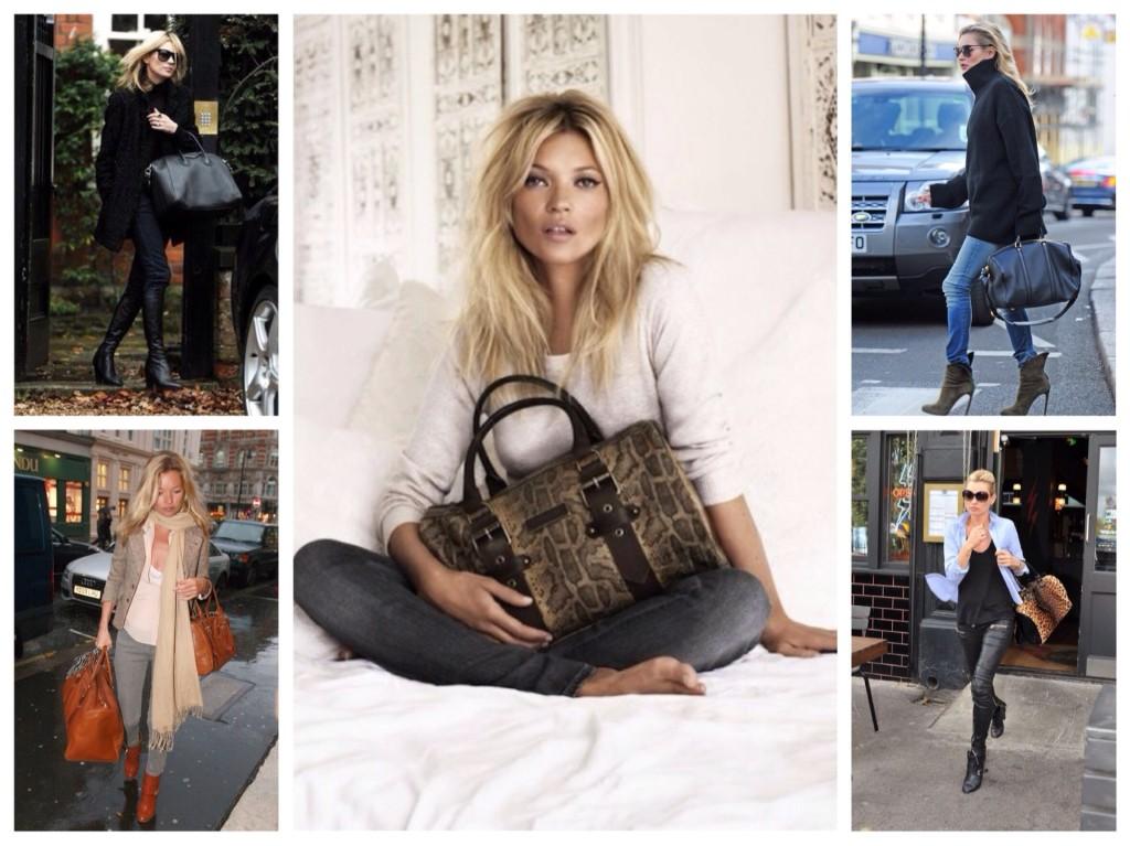 выбор сумок Кейт Мосс