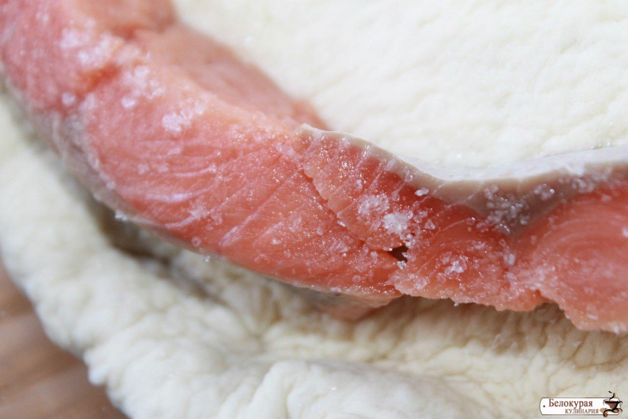 Необычный открыто-закрытый пирог с рыбой и сладким перцем выпечка,кулинария,рыбный пирог
