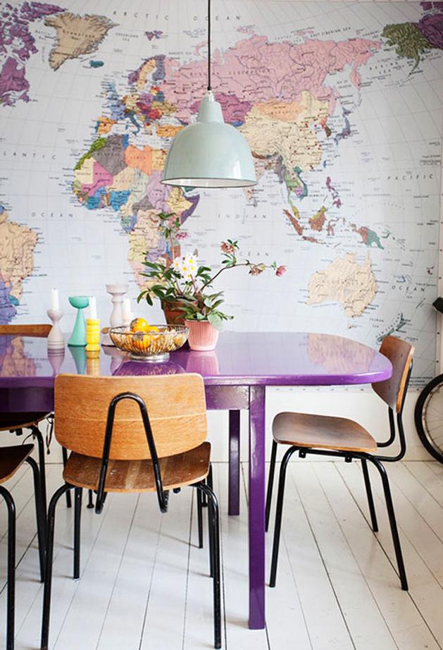 Кухня в цветах: белый, сиреневый, бежевый. Кухня в стилях: лофт.