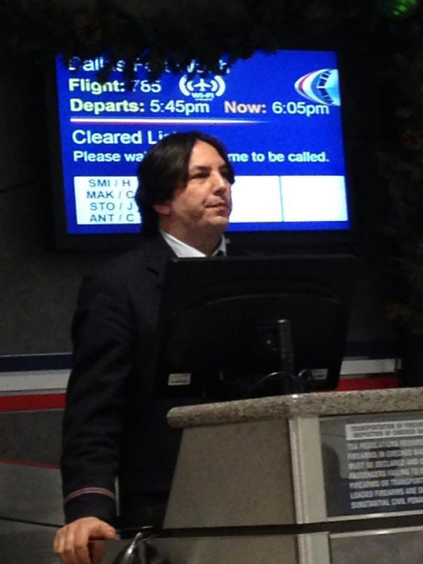 Professor Snape! I Had No Idea You Actually Faked Your Death And Started Working For Muggle Airlines
