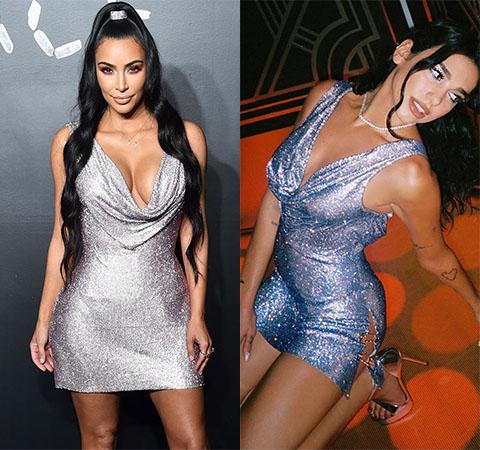 Битва платьев: Ким Кардашьян против Дуа Липы