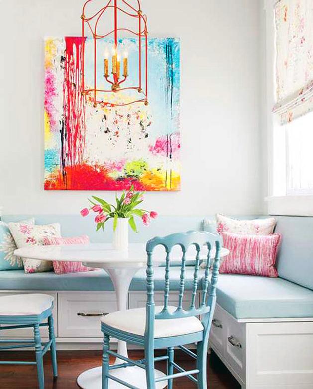 Кухня в цветах: голубой, белый. Кухня в стилях: минимализм.