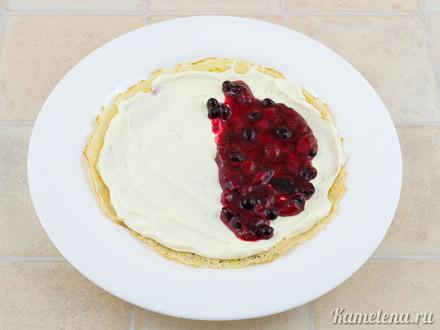 Блинчики со сливочным сыром и ягодным соусом — 8 шаг