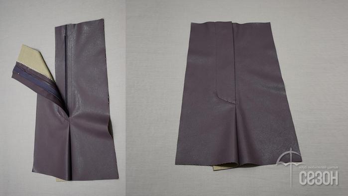Выполнение гульфика на брюках из экокожи гульфик,одежда,переделки,своими руками,экокожа