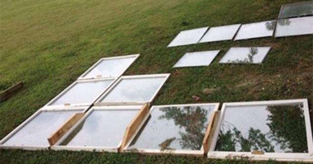 Мужчина просто разложил на траве старые окна. Через несколько дней он сделал нечто невероятное!