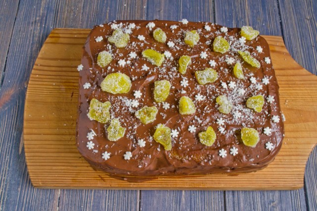 Украшаем домашний торт без муки