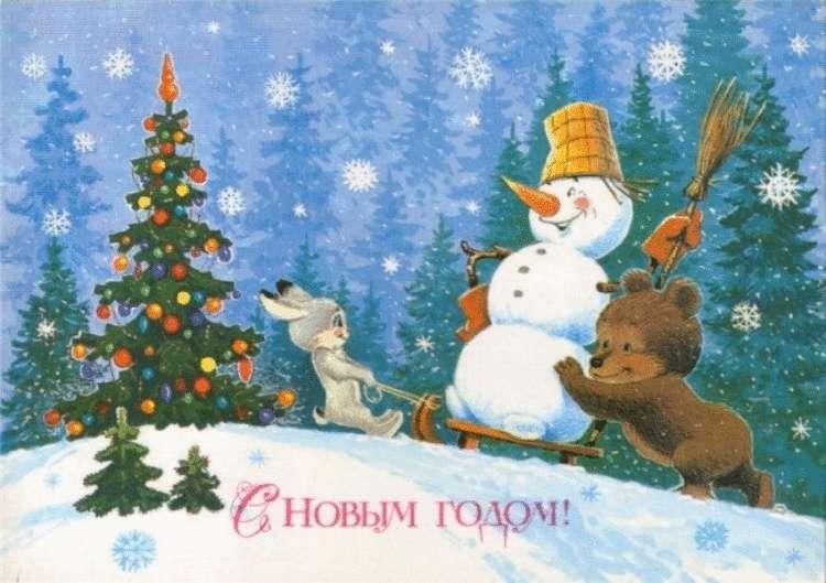 20 чудесных старых новогодних открыток