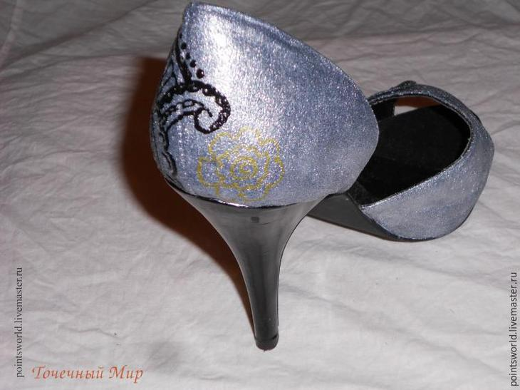 расписные туфли