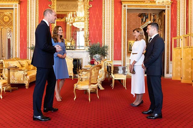 Кейт Миддлтон и принц Уильям встретились с Владимиром и Еленой Зеленскими Монархии