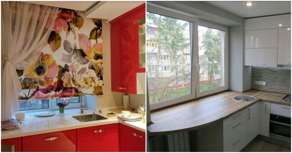 Использование зоны подоконника — увеличьте полезную площадь кухни