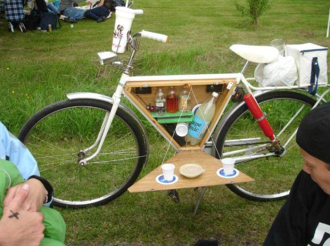 Велосипед со встроенным минибаром