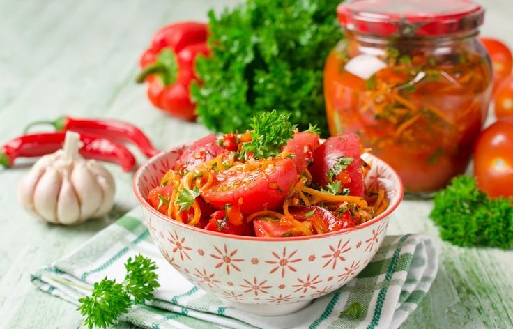 Самые вкусные помидоры по-корейски