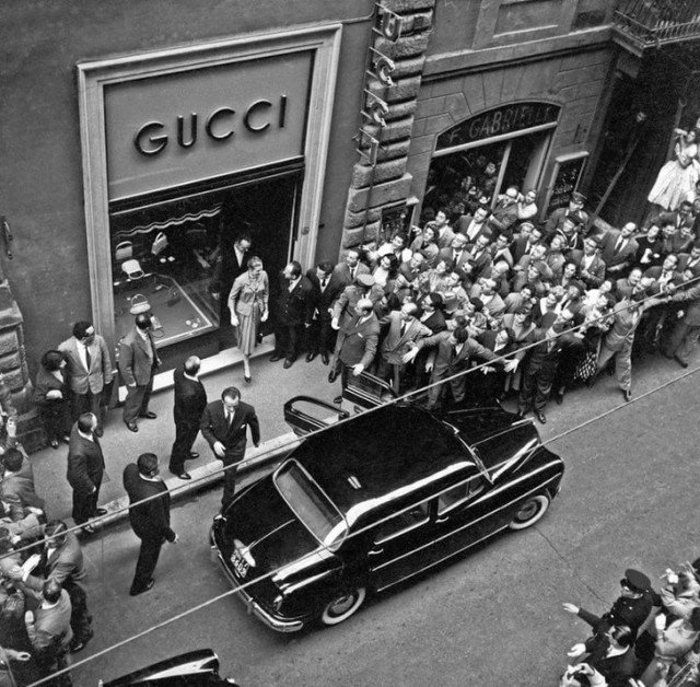 Открытие первого магазина Gucci в Нью-Йорке. 1953 год история, ретро, фотографии