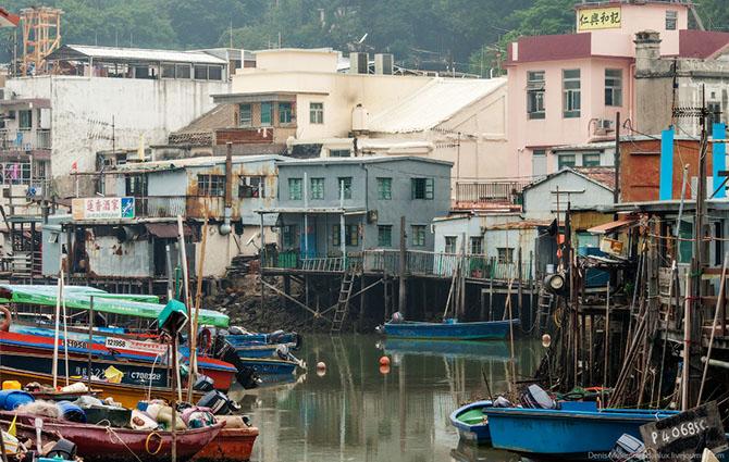 Путешествие по рыбацкой деревене в Гонконге