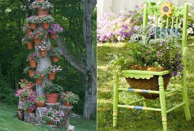 Как бесподобно оформить участок, используя деревянные доски и поленья