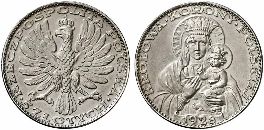 Частная польская монета - немецкая медаль