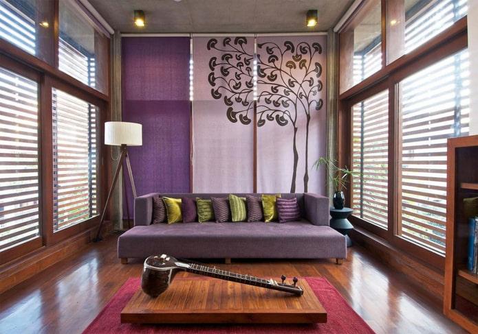 японские панели в интерьере в восточном стиле