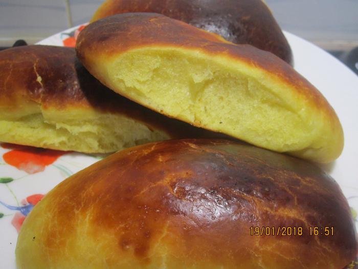 Пирожки на горчичном тесте