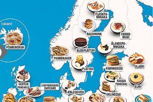 Блинная карта Европы. Инфографика