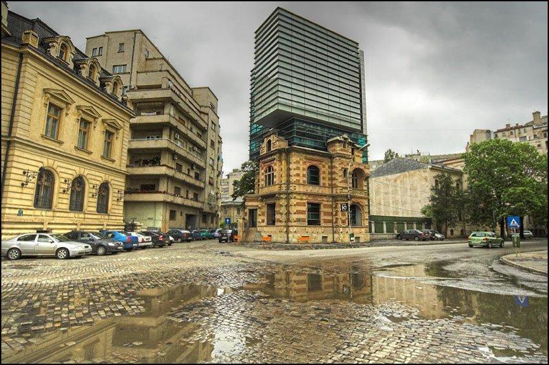 Бухарест контраст, необычные кадры, столкновение эпох, удачные снимки, фото, хорошие кадры