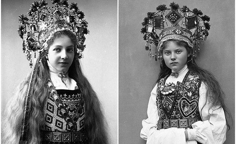 Сказочные наряды норвежских невест 1870-1920-х годов