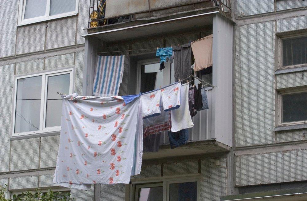Про белье на балконах