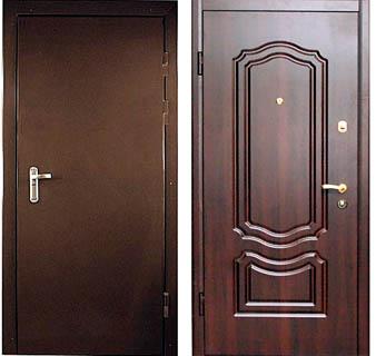 сколько стоит установка входных железных дверей