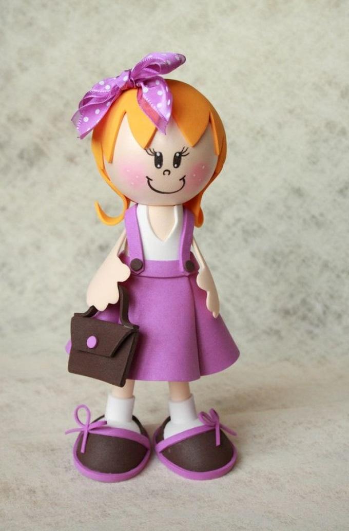 например кукла из фоамирана своими руками недавно заболевших детей