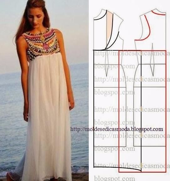 dc13beeb84290e2 Летние платья и сарафаны с простыми выкройками. 50 платьев — 50 выкроек!