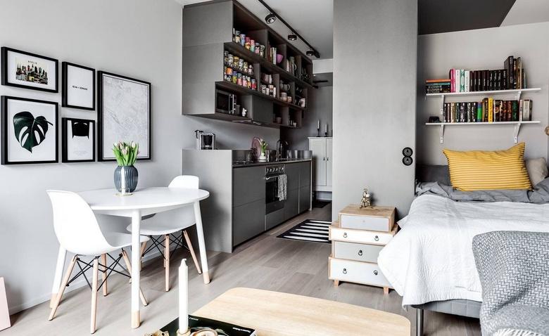 Небольшая однокомнатная квартира для девушки