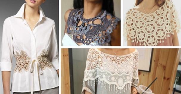 Преображаем одежду вязаными деталями…