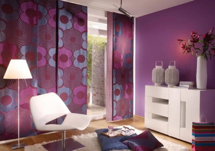японские полотна фиолетового цвета