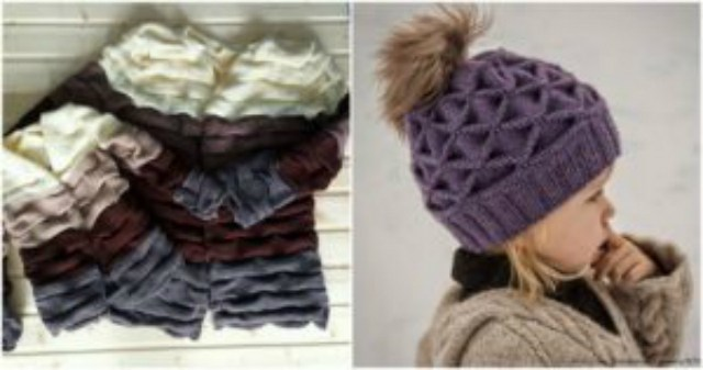 Узор спицами «Клоке» — вяжем зимние шапочки и шарфы