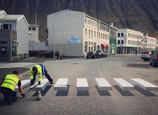 3D пешеходный переход в Исландии