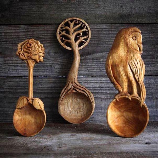 Уникальные деревянные ложки