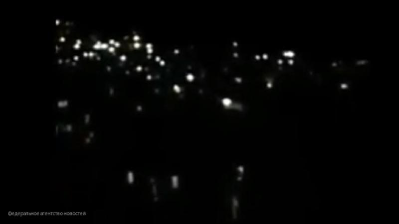 Видео отражения атаки ВВС Израиля системами ПВО Сирии в Дамаске появилось в Сети
