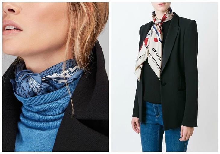Как носить шелковый платок этой осенью — подборка различных вариантов от Hermès
