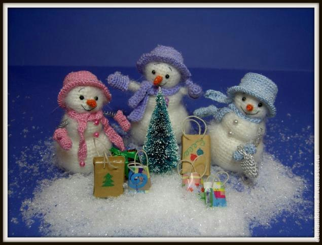 Весёлые снеговички