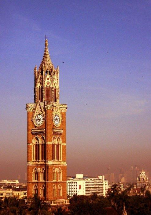 Башня Раджабаи в Индии – часы в подарок маме башенные часы, самое большое, символ горда
