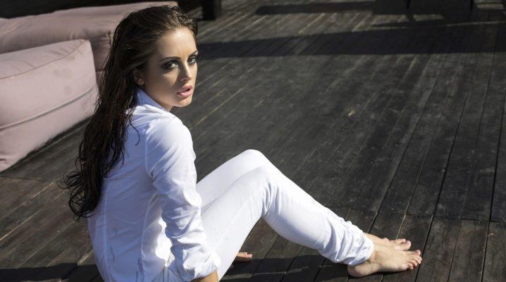 девушки в белых джинсах видео