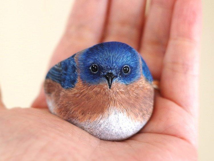 Это просто волшебство: Японка превращает камни в очаровательных животных животные, искусство, камни, милота, рисунок, японка