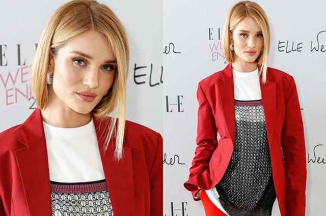 Рози Хантингтон-Уайтли в наряде от Victoria Beckham появилась на мероприятии в Лондоне