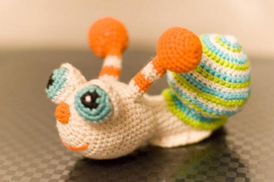 Вязаная амигуруми Улитка. Вязание игрушек для детей