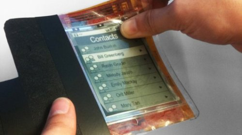 Paperphone - гибкий, тонкопленочный телефон-компьютер.