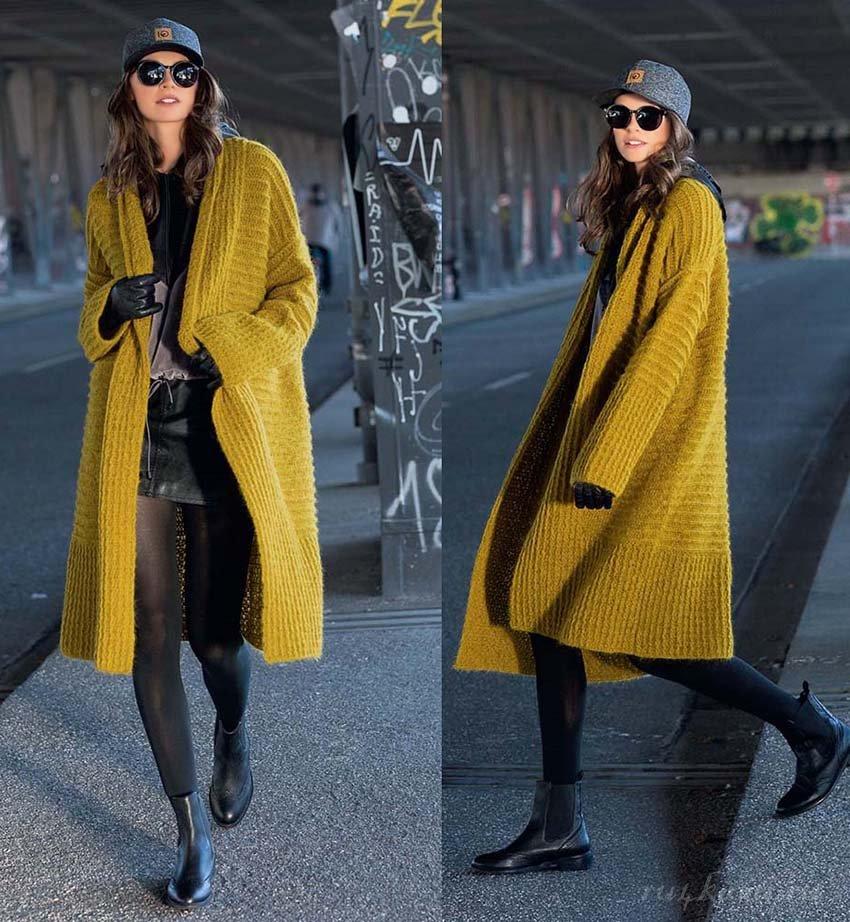 Пальто крючком вязание,мода,одежда