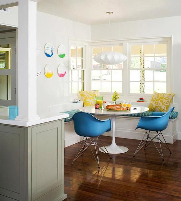Кухня в цветах: бирюзовый, серый, белый, коричневый. Кухня в стилях: минимализм.