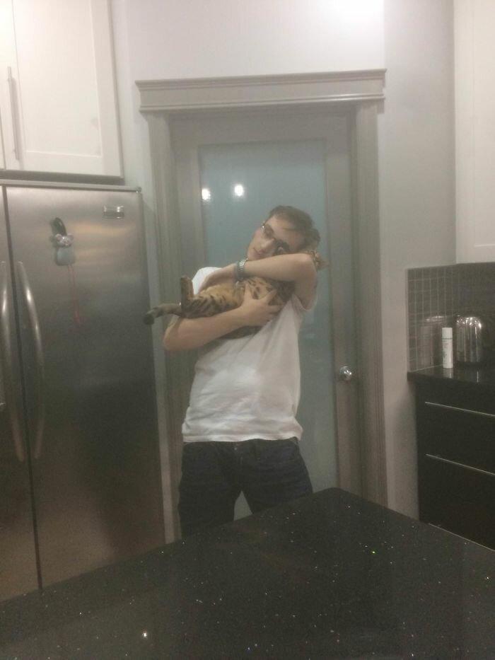 Кошачий рай своим руками: парень переделал подвал в комнату для любимцев своего погибшего брата